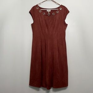 Robbie Bee Brown Fit & Flare Dress Size L